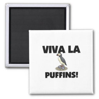 Viva La Puffins Refrigerator Magnet