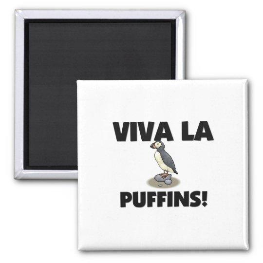 Viva La Puffins Magnet