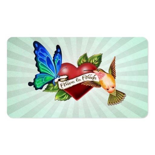 viva la vida tattoo gift tag business card zazzle. Black Bedroom Furniture Sets. Home Design Ideas