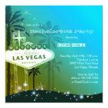 "Viva Las Vegas Bachelorette Party Invitations 5.25"" Square Invitation Card"