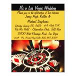 Viva Las Vegas Casino Theme Weddings 4.25x5.5 Paper Invitation Card