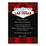 """Viva Las Vegas Damask Wedding Invitation 5"""" X 7"""" Invitation Card"""