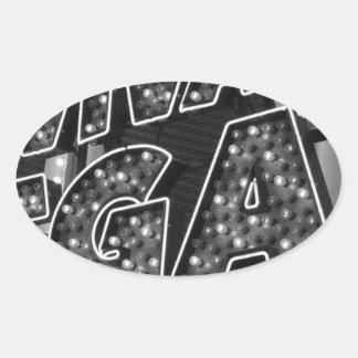 Viva Las Vegas Oval Sticker