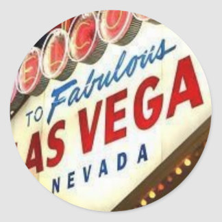 Viva Las Vegas Pegatina Redonda
