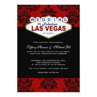 Viva Las Vegas que casa la invitación Invitación 12,7 X 17,8 Cm