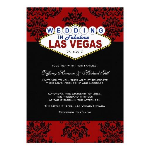 Viva Las Vegas Wedding Invitation 5 X 7 Invitation Card