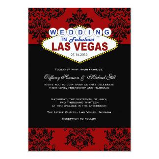 Attractive Viva Las Vegas Wedding Invitation
