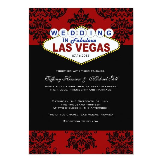 Viva las vegas wedding invitation zazzlecom for Wedding invitations las vegas nv