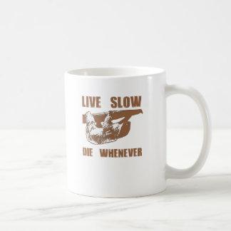 Viva lento mueren siempre que tazas de café