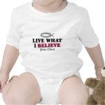 Viva lo que creo - Jesucristo Traje De Bebé