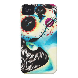 Viva Los Muertos Day of the Dead Girl iPhone 4 Cover