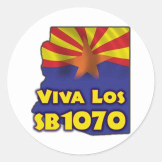 Viva Los SB1070 - Arizona Immigration Reform Classic Round Sticker