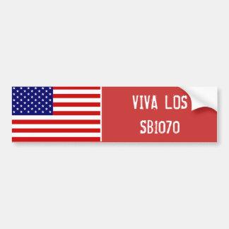 VIVA LOS SB1070 BUMPER STICKER