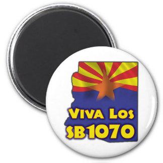Viva Los SB1070 - reforma de inmigración de Arizon Imán Redondo 5 Cm