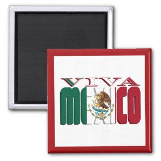 VIVA MEXICO 2 INCH SQUARE MAGNET