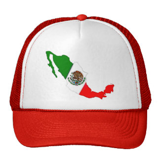 viva México con la bandera Gorras