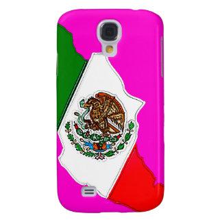 viva México con la bandera (grande) Funda Samsung S4
