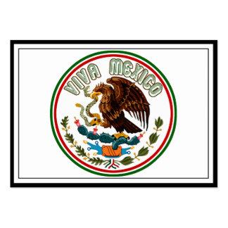 Viva México (Eagle de la bandera mexicana) Plantilla De Tarjeta Personal