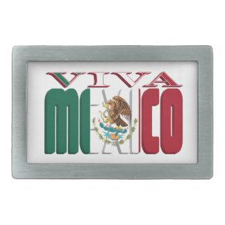 VIVA MÉXICO HEBILLAS CINTURON RECTANGULARES