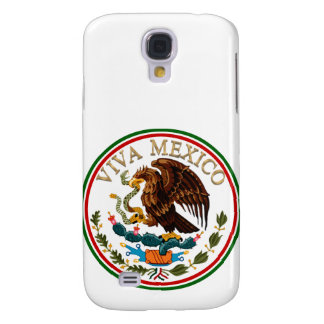 Viva Mexico Mexican Flag Icon w/ Gold Text Samsung Galaxy S4 Cover