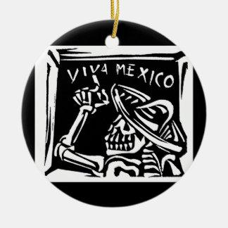 """Viva Mexico- Mexico's """"Day of the Dead"""" Ceramic Ornament"""