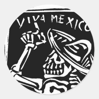 "Viva Mexico- Mexico's ""Day of the Dead"" Classic Round Sticker"
