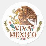 Viva México Pegatina Redonda