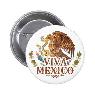 Viva México Pin Redondo De 2 Pulgadas