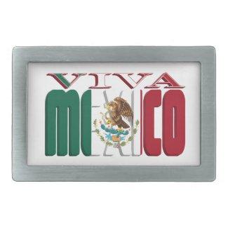 VIVA MEXICO RECTANGULAR BELT BUCKLE