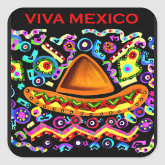 VIVA MEXICO SQUARE STICKER