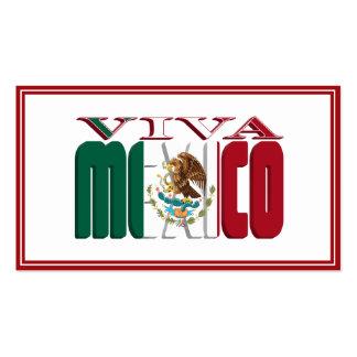 VIVA MÉXICO TARJETAS DE VISITA