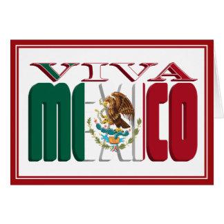 VIVA MÉXICO TARJETA DE FELICITACIÓN