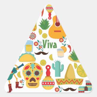 viva mexico triangle sticker
