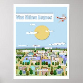 Viva Milton Keynes poster print by Robert Rusin
