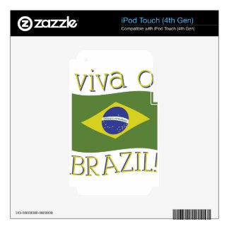 Viva O Brazil Skin For iPod Touch 4G