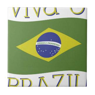 Viva O el Brasil Azulejo Cuadrado Pequeño