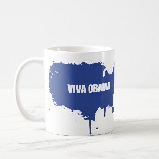VIVA OBAMA TAZA DE CAFÉ