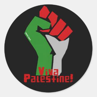 Viva Palestine Classic Round Sticker