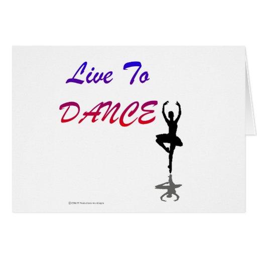 Viva para bailar (para los productos de color clar felicitacion