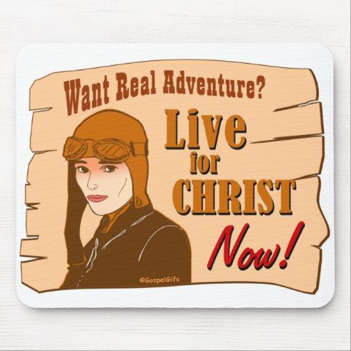 Viva para el diseño cristiano del regalo de la ave tapete de raton