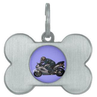 Viva para montar Motorbiker Placa De Nombre De Mascota