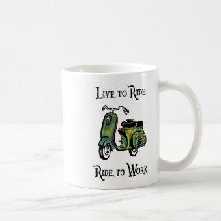 Viva para montar - paseo para trabajar tazas
