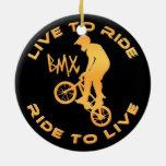 Viva para montar paseo para vivir BMX Adorno De Reyes