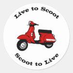 Viva para scoot alrededor del pegatina