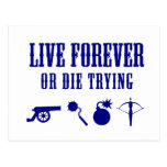 Viva para siempre o muera el intentar (las armas) tarjetas postales