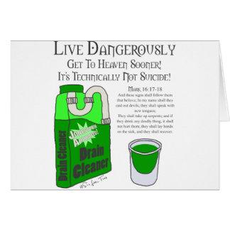 Viva peligroso tarjeta de felicitación