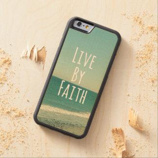 Viva por verso de la biblia de la fe funda de iPhone 6 bumper arce
