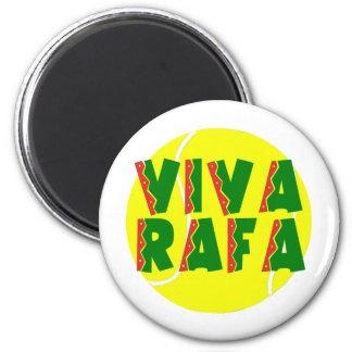 VIVA RAFA con la pelota de tenis Imán Redondo 5 Cm