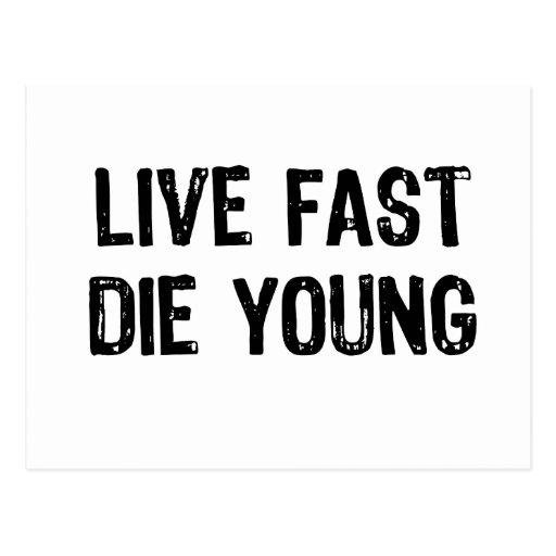Viva rápidamente, muera los jóvenes postal