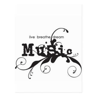 Viva, respire, soñe la música postal